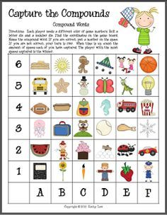 First Grade a la Carte: compound word game