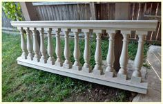 Flat Baluster Victorian Porch Railings With Flat Sawn