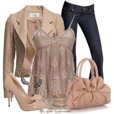 A fashion look from April 2013 featuring Twin-Set tops, VILA blazers ve J Brand jeans. Browse and shop related looks.