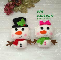 Felt snowman pattern Christmas snowman ornament Felt snow doll
