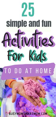 Got bored kids? Try these simple and fun ways to keep kids busy at home when there's nothing to do! Keeping kids active and occupied with these family-friendly activities to pass the time! Kids Activities At Home, Indoor Activities, Kindergarten Activities, Summer Activities, Summer Fun List, Weekend Fun, Summer Kids, Diy For Kids, Crafts For Kids