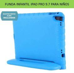 Fundas iPad Pro infantiles a prueba de niños. Funda protectora tablet Apple de goma Eva azul Funda Ipad Pro, Plastic Cutting Board, Samsung Galaxy, Childproofing, Blue