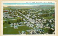 Lancaster Ohio 1930 view from Mt Pleasant