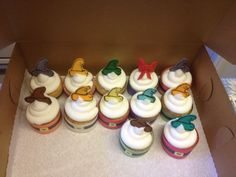 Αποτέλεσμα εικόνας για snow white cupcakes Snow White Cupcakes, Sweet Bakery, Something Sweet, How To Make Cake, Dwarf, Desserts, Food, Tailgate Desserts, Deserts