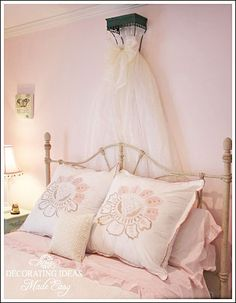 Creating a Cheap Bed Crown for a Little Girl's Bedroom :: Hometalk