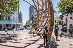 The Arch for Arch Unveiled for Archbishop Desmond Tutu. Designed by Snøhetta, Local Studio, in collaboration with Design Indaba. #landscape #architecture #arch #capetown #snohetta #design #art #arch #tutu