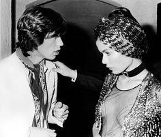 Mick et Bianca Jagger à Saint-Tropez en 1971
