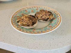 Cheesy Mushrooms - The Blood Sugar Diet by Michael Mosley Grilled Mushrooms, Stuffed Mushrooms, Michael Mosley, Blood Sugar Diet, Low Carb Recipes, Free Food, Lunch, Eat, Breakfast