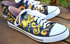 Doctor Who Handpainted Vincent Van Gogh Tardis Shoes Vincent and The Doctor