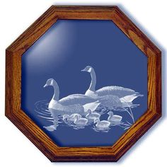 Hideaway Heritage Canadian Geese Art Etched Small Octagon Mirror