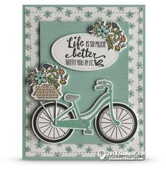 CARD: Life is Better with You In It from the Bike Ride Stamps – Card 2 of 2 | Stampin Up Demonstrator - Tami White - Stamp With Tami Crafting and Card-Making Stampin Up blog