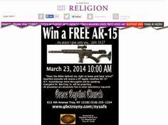 Já imaginou? Uma Igreja Batista  Sorteia Rifle a fiéis e encoraja o porte de arma