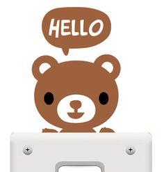 Light Switch Sticker - Brown Bear
