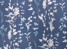 Botanica Gentian - Xanthina : Designer Fabrics & Wallcoverings, Upholstery Fabrics