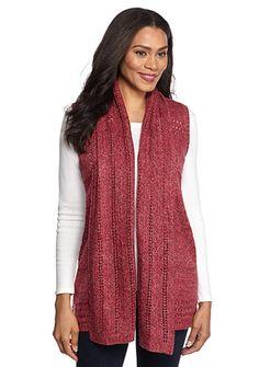 a85e8b80fd6 Kim Rogers® Pointelle Vest
