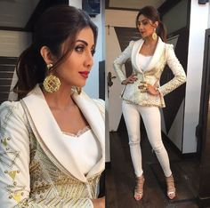 daad82089cc When Shilpa Shetty Kundra showed us how to ditch the lehenga and wear a  pantsuit for festive occasions.
