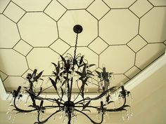 Nailhead ceiling...I can't even begin to describe how much I love this!!  But can I do it??  http://simpledetailsblog.blogspot.com
