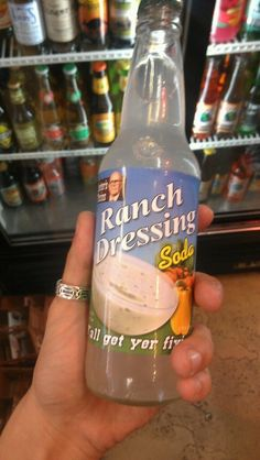 Unusually flavored sodas by Lester's Fixins (we're talking bottles of Buffalo Wing, Peanut Butter & Jelly and more) but now they've one-upped themselves with their new Ranch Dressing soda. There's not much info about it (like what does this abomination taste like?) but it's available at Rocket Fizz Soda Pop & Candy Shops across the United States