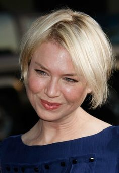 20 Celebrity Hair Styles for Round Faces: Renee Zellweger