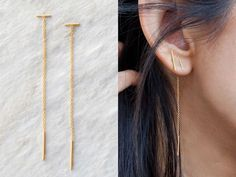 I never thought these delicate gold earrings could be so life-changing, TBH.