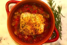 Provencal Tomato Fennel Stew With Oven Roasted Cod