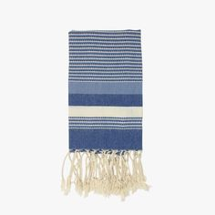 Our cotton Blue Jean Multi Stripe Turkish Hand Towel from Scents and Feel. Our Turkish fouta guest towels make a perfect hostess gift.