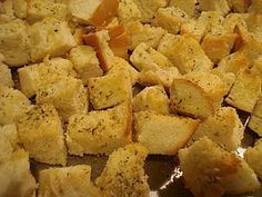 Croutons and Stuffing on Pinterest | Homemade Croutons, Stuffing ...