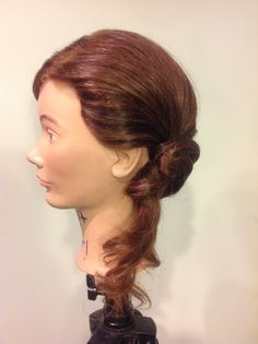 Twisted low ponytail side