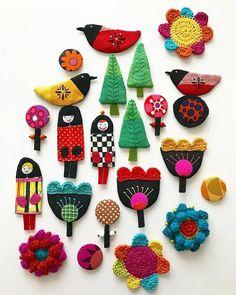 Crochet Illustrations by Tuija Heikkinen Freeform Crochet, Crochet Art, Crochet Home, Cute Crochet, Crochet Motif, Beautiful Crochet, Crochet Flowers, Crochet Stitches, Crochet Patterns