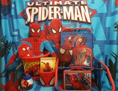 Ultimate Spiderman Lot -  Plush Toy, Lunch Box, Curtains, Easter Basket Spider #MarvelSpiderSenseSpiderman