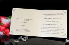 Duże kwadratowe, perłowe zaproszenia ślubne.