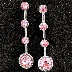 Crystal Light Rose con cromado brillante de la borla del collar de la NS1214E