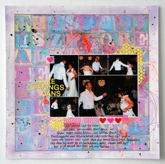 Marsha Valk | Inspired By: Wedding music // 12x12 scrapbook layout