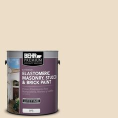 BEHR Premium 1 gal. #710C-2 Raffia Cream Elastomeric Masonry, Stucco and Brick Paint, Beige/Ivory