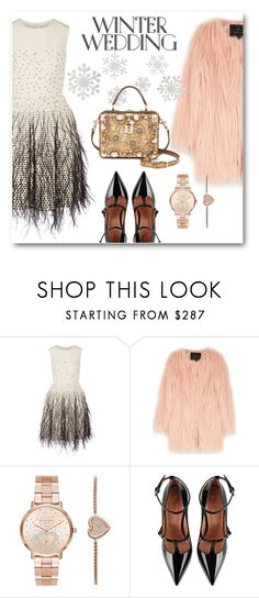 """""""Winter Wedding"""" by eileenelizabeth ❤ liked on Polyvore featuring Lela Rose, Unreal Fur, Michael Kors, RED Valentino, Dolce&Gabbana, polyvoreeditorial, polyvorecontest and winterwedding"""