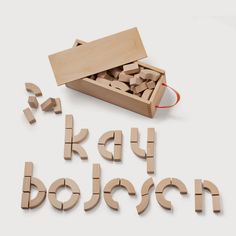 The Kay Bojesen blocks are the perfect newborn gift or birthday gift, but also appeal to adult design lovers with their unmistakable references to the Bauhaus typologies. This classic Danish ABC Wooden Alphabet Block set comes packaged in a beautiful wooden gift box. Set includes 66 wooden blocks + 1 wooden case = 67 piece total.  Kay Bojesen was a leading Scandinavian functionalist and his architecture and designs are known for their simple, architectonic style.