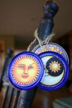 Juice can lid ornaments