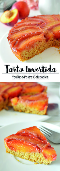 Inverted cake, easy and healthy: gluten free, egg free, dairy free - # easy # eggs # inverted # dairy No Egg Desserts, Gluten Free Desserts, Sweet Desserts, Healthy Desserts, Gluten Free Recipes, Healthy Fats Foods, Fat Foods, Healthy Sweets, Diabetic Recipes