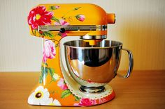 This is not my style but I love the idea of a customized Kitchen Aid!