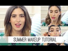 ▶ Summer Makeup Tutorial // Lily Pebbles - YouTube