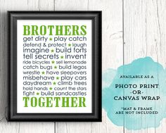 green and navy boys playroom decor  brothers by WillowLanePrints