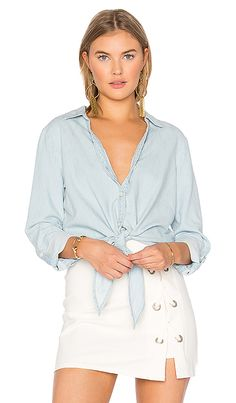 Soft Joie Crysta Button Up in Sunbleached Wash