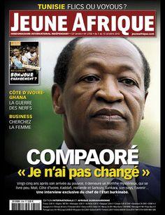 La couverture de Jeune Afrique le  7 Octobre 2012