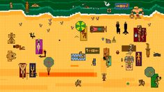 #8bit #art #pixel #animation #Tomasz #Wlaźlak #Border #beach #illustration
