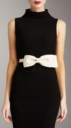 add a bow to it.... Little black dress with white bow belt.