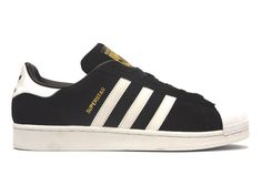 Adidas Superstar Suede Black / White  #adidas #sneakers #fashion