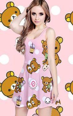 Lazy Bear Has Some Snacks All Over Print Dress