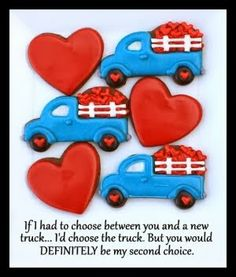 hearts and trucks cookies