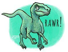 Rawr! Velociraptor quick sketch  #velociraptor #jurassicworld #jurassic #jurassicpark #dinosaur #dinosaurio #sketch #drawing #digital