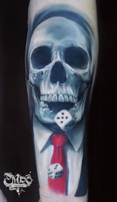 Skull and Dices Tattoo